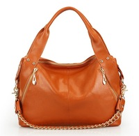 Wholesale high qualtity women messenger bag, 100% first layer genuine cowhide leather Chain handbag tote shoulder bags, Q0319