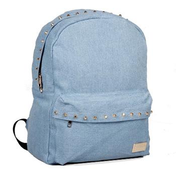 Woovan denim rivet backpack rucksack backpack women travel duffel bags back to school duffel bag college backpacks girls