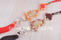 Topaz Chinese Knot Car Tassels Hanging Symbol of Blessing and Expectations Car Perfume Hanging