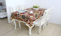 Free shipping Mediterranean type linen table cloth Flower printed  multi-purpose fabric cloth 140*220 cm