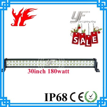 Free Shipping To USA  Water Proof  180W 30inch led truck light Off Road SUV 4X4 Lighting