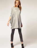 2014 new arrival Spring Female Cotton batwing-sleeved T-shirt for women ladies'  tops O-Neck Short Sleeve free shipping