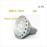 MR11/GU4 LED spotlights 2 w, 10-30 v AC / DC GU4 120/30 degrees beam Angle aluminum high lumen LED spot
