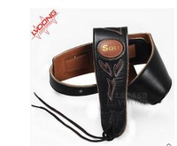 Leather guitar straps bass guitar widened personality folk acoustic guitar straps The electric guitar straps accessories