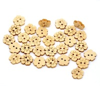 Free Shipping 200pcs 2 HolesFlower Wooden Buttons 15x15mm(LW003X01) Sewing Scrapbooking Embelishments Crafts