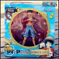 New One Piece Anime P.O.P Luffy PVC Figure Sailing Again The New World New in box -Wholesale Action Figures Toys Free Shipping