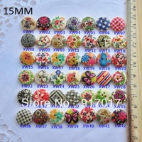 200pcs Free Shipping Mixed Multicolor 2 Holes Wood Sewing Buttons sinicism 15mm (24L01X 03) clothing buttons