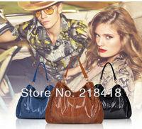 2013 promotion! high quality genuine leather women handbag snake shoulder bag 100% cowhide leather celebrity bag free shipping