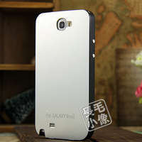 For Note2 Ultra thin Metal Aluminium Alloy Hard Matte surface Case for Samsung Galaxy Note II 2 N7100 Protective Cover Frame