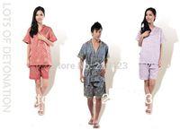 Cotton 100% cotton rich flowers bathrobe sauna service khan steam massage suit clothing beauty services foot service