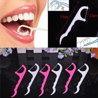 #F9s Lot of 100pcs Dental Floss Interdental Brush Teeth Stick Toothpicks Floss Pick EMS DHL Free Shipping Mail
