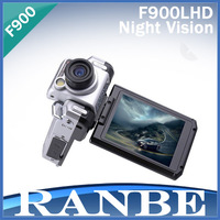 DHL Free Shipping High Quality Night Vision  F900LHD Car DVR Car Camera F900  1080P 2.5'' LCD Retail Box
