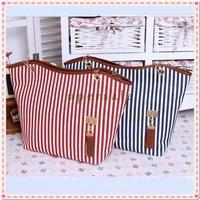 bags Handbags fashion 2013 women Stripe Street Snap Candid Tote Canvas Shoulder Bag drop shipping