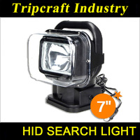 "7"" HID remote control search light hid search light remote control xenon hunting light Wireless control HID Searchlight"