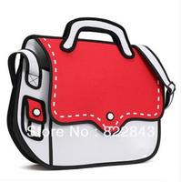 women fashion cute 2d/3d shoulderbag 4 colors cartoon animal ladies hot sale messenger bags