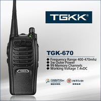 professional 400-470MHz  5W handheld two way radio