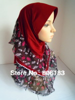 m1855 newst summer design islamic hijab three layers elegant muslim hijab free shipping by ESM or FEDEX