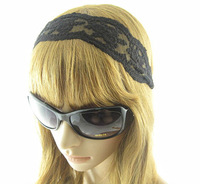 Lace Hair Accessory  Fashion The Wide  HeadBand For Women Girl Black
