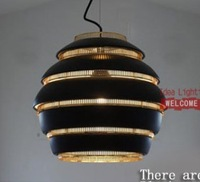 Promotion Special Offer Free Shipping Fashion Creative Alvar Aalto A332 Beehive Pendant Light Suspension Lamp Classical Black