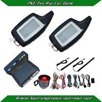 FM car alarm system,two way car alarm,PKE antenna,central lock automatication,remote start,timer start,temperature start moe