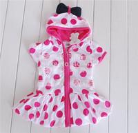 275#  wholesales fashion children girl's dress with dots 5pcs/lot Free shipment