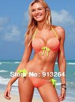 2014 Sale Swimwear Sexy Bathing Suit Swim Wear Beach Bikini Swimsuit Steel Bracket Push Up Swimming for Women Freeshippingblack