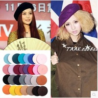Autumn and winter fashion hat Women bucolics hat wool beret painter hat b001