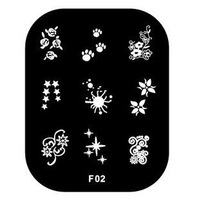 Free Shipping   10 pieces/lot   Nail Image Plates Stamping Nail Art  F02