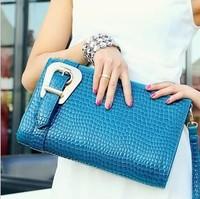 fashion handbags 2014 new summer surge and commuter crocodile Hand Shoulder Bag Handbag oblique cross