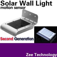 The Latest Version Second generation Solar wall light Solar wall lamp Motion sensor 16LED Very bright 3MODE:bright/dim/dark