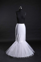 GOOD price and quality ! mermaid petticoat 2 hoops white wedding dress crinoline