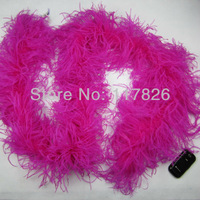 Free Shipping Wholesale 1Pcs/lot  Quality beautiful Rose Ostrich Feather Boa For Stage Perform & Wedding decoration