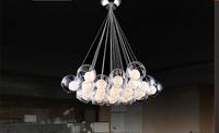 Free Shipping New Modern 19 heads Led Bulb Glass Ball Pendant Lights Glass Blub Sago Lighting 110V/220V/230V
