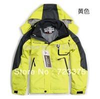 Outside sport child outdoor jacket twinset waterproof fleece thermal male female child ski suit outerwear  Free shipping