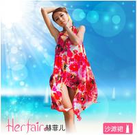 2014 summer robe de plage fashion brand sexy woman hawaiian beach wear bikini cover-ups clothing wrap dress vestidos de praia