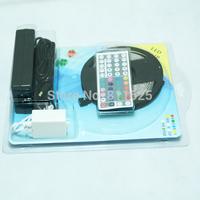 No Waterproof 5M RGB 5050 SMD 300 LED Strips Light +44 Key IR Remote Control+ 12V 4A Power Supply