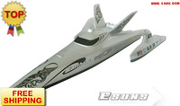 High Speed 2.4G R/C Boat R/C Ship EMS Free Shipping Brushless EP Large Boats Earthrace 1300BP(Silver)-RTR(Pistol Transmitter)