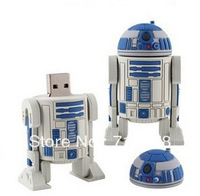 H106 4GB 8GB 16GB 32GB 64GB Full Capacity Cartoon Cute Star War Series R2D2 Robot USB 2.0 Memory Flash Pen Drive Car/Thumb/Pen