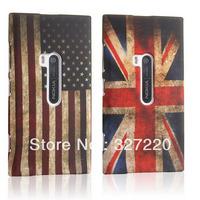 Free Shipping silicone Cover for Nokia Lumia 920 TPU case Etui Gel retro UK USA American flag Old Fashion