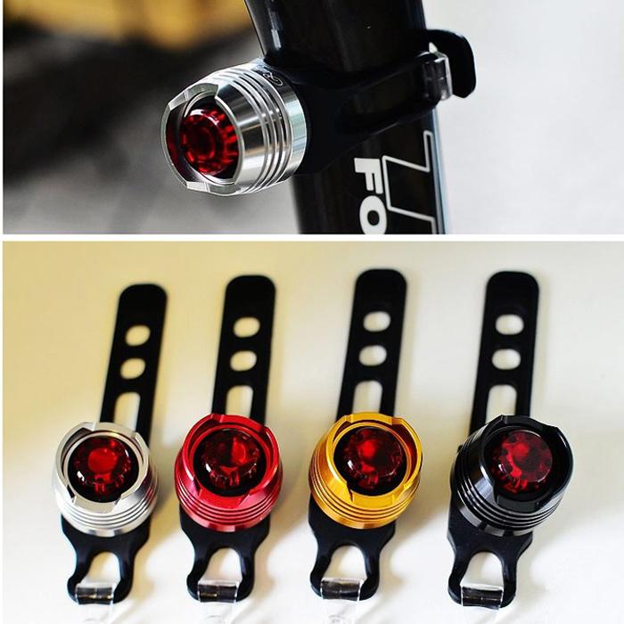 FREE SHIPPING FREE Li-battery Hot-selling bicycle rear light warning light aluminum alloy fork lamp ruby 1300 mirror(China (Mainland))