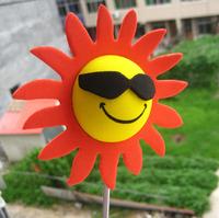 Cool Sun Shine Sun Glasses Face Antenna Ball Topper car decoration Antenna Ball Toppers exterior aerial ball car aerial doll