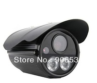 Double LED Lamps 700TVL IR Bullet Security Camera - Black