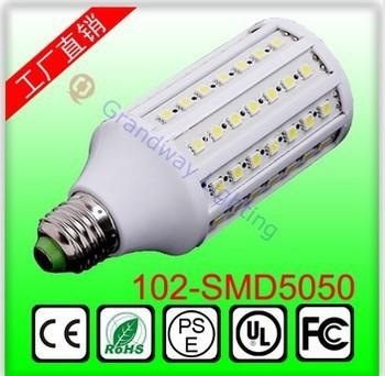 10pcs  Free shipping   20w    E27 E14  5050 LED 102  SMD Saving Corn Light