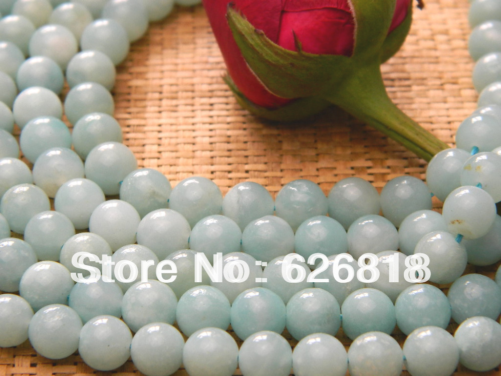 Wholesale with free shipping (2 strands/lot) natural 8mm amazonite slider round beads diy craft accessories Min Order is 15$(China (Mainland))