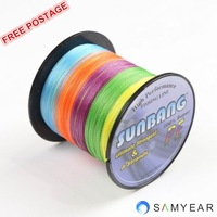 Free Shipping 8 strands 15LB 100M Powerful Long Line Fishing Spectra Braid Fishing Line-- SUNBANG