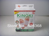 wholesale~100pcs/lot (1 Box=10pcs pads new Healthy Kinoki Detox Foot Pads Patches with Adhesive with box ,1 PACK=10pcs