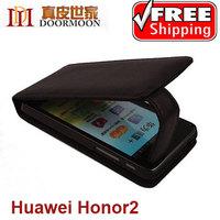 Original Doormoon Brand , genuine leather flip cases cover for huawei honor 2+ U8950D U9508 C8950D G600+screen flim ,free ship