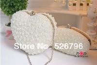 2014 women's handbag handmade pearl bags white bridal wedding bags evening bag banquet  bag lady wallet