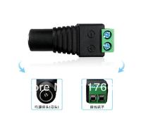 2.1mm female cctv DC power jack connector for cctv camera surveillance system bnc female 50pcs/lot