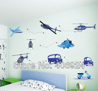 New Listing Removable Vinyl Wall Stickers Plane Wall Decors Baby Room Wall Art Decor Nursery Wall Stickers 50x70cm Mix Order